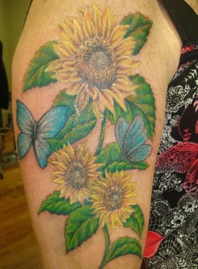 sunflower tattoos photo - 38