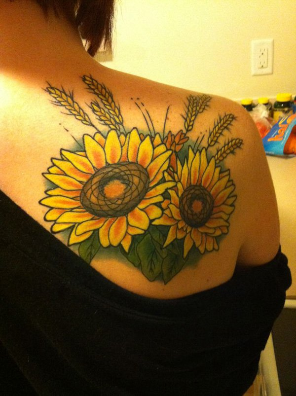 sunflower tattoos photo - 39