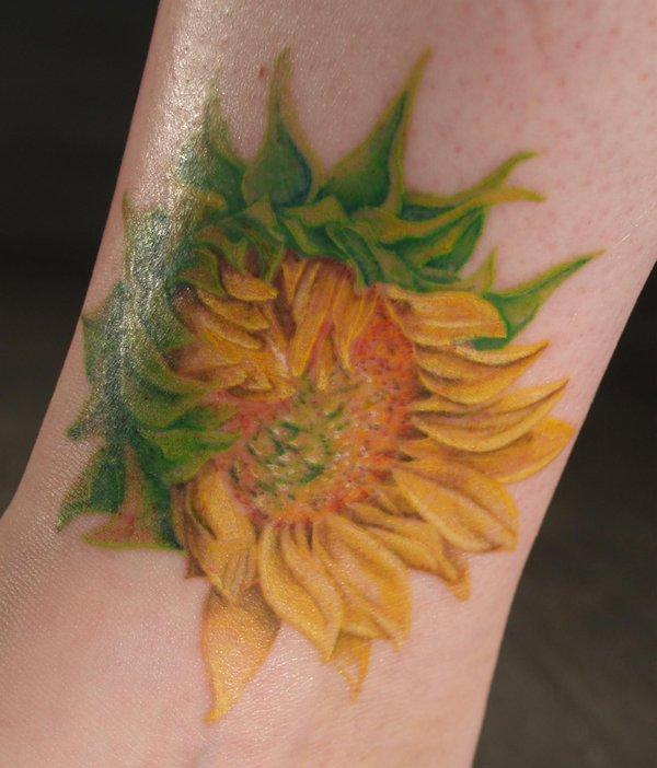 sunflower tattoos photo - 4