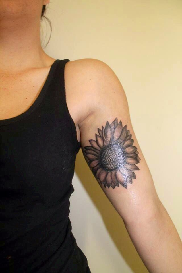 sunflower tattoos photo - 40