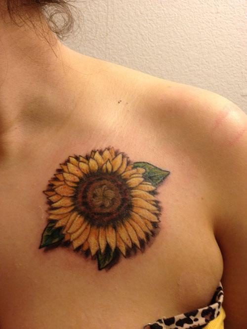 sunflower tattoos photo - 5