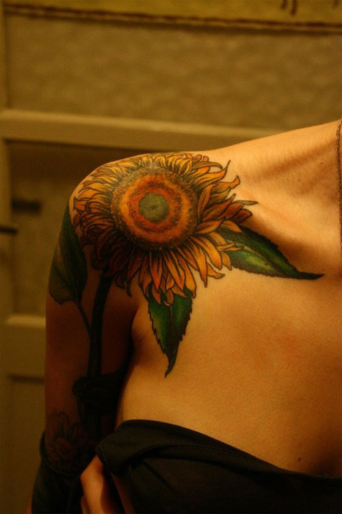 sunflower tattoos photo - 6
