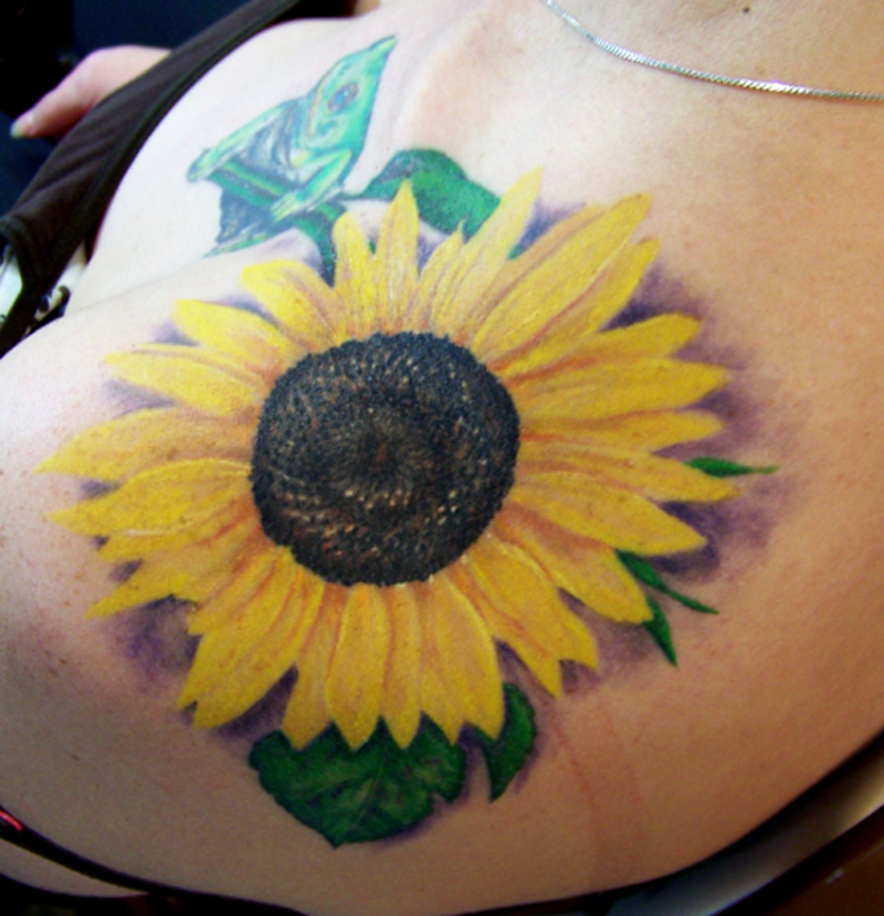 sunflower tattoos photo - 8