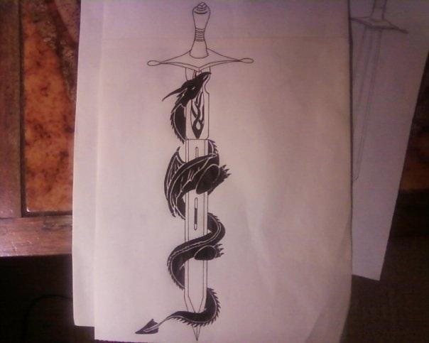 sword tattoos photo - 26