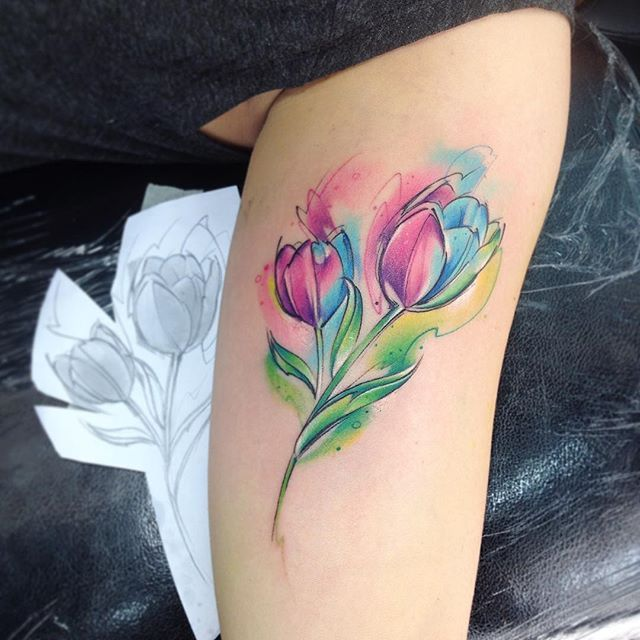 tulip tattoos photo - 19