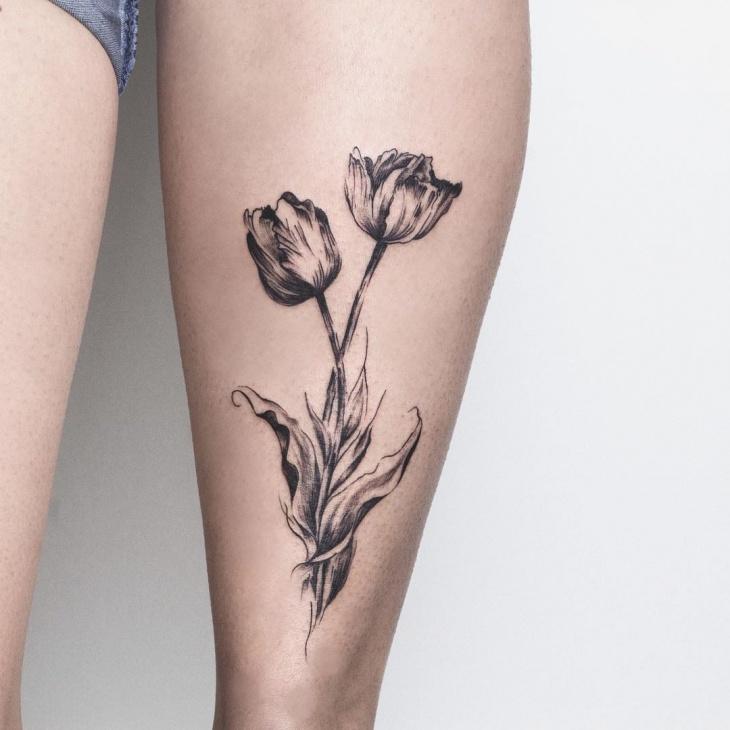 tulip tattoos photo - 33