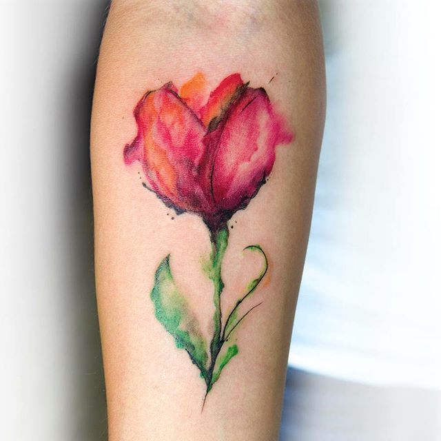 tulip tattoos photo - 7