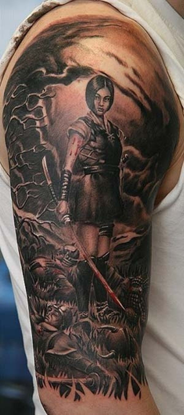 warrior tattoos photo - 3