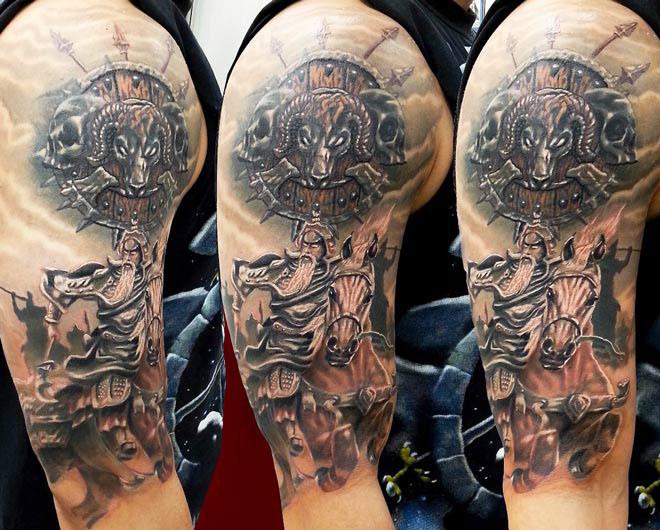 warrior tattoos photo - 30