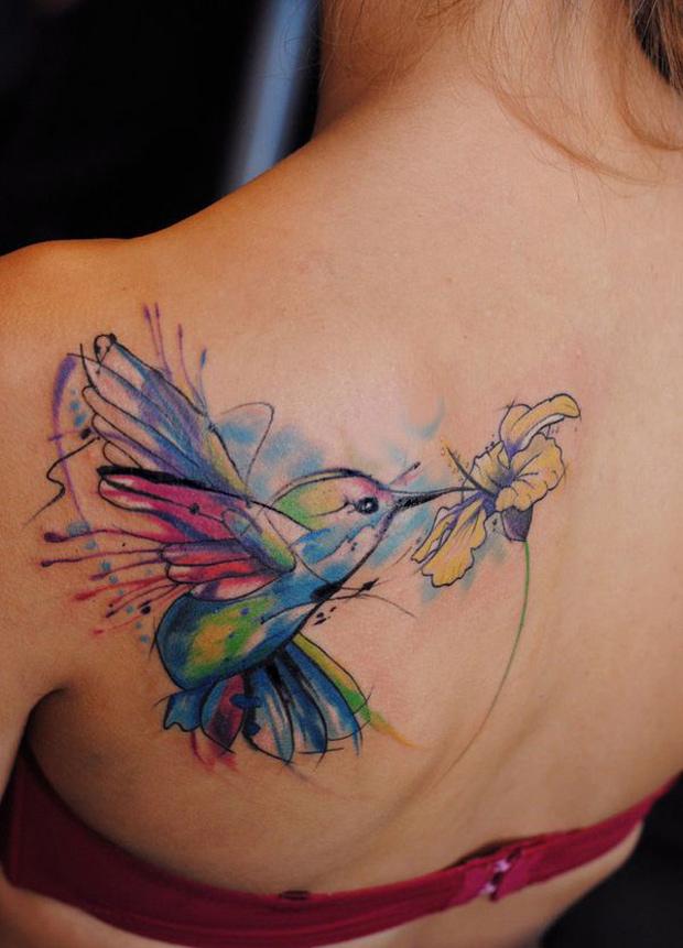 watercolor tattoos photo - 32
