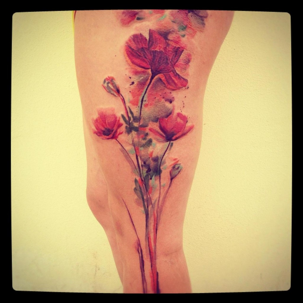 watercolor tattoos photo - 39
