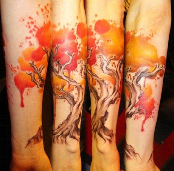 watercolor tattoos photo - 41