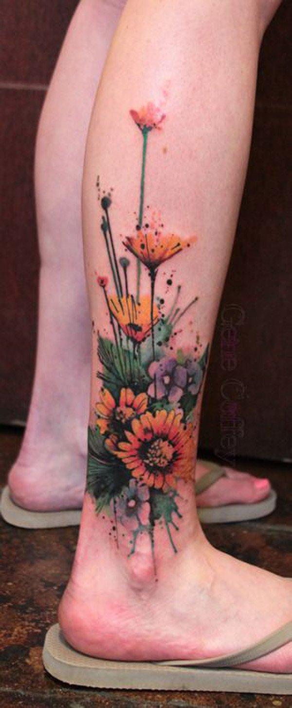 watercolor tattoos photo - 43