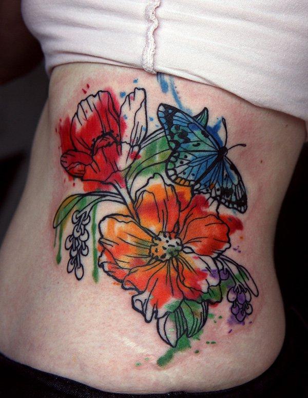 watercolor tattoos photo - 45
