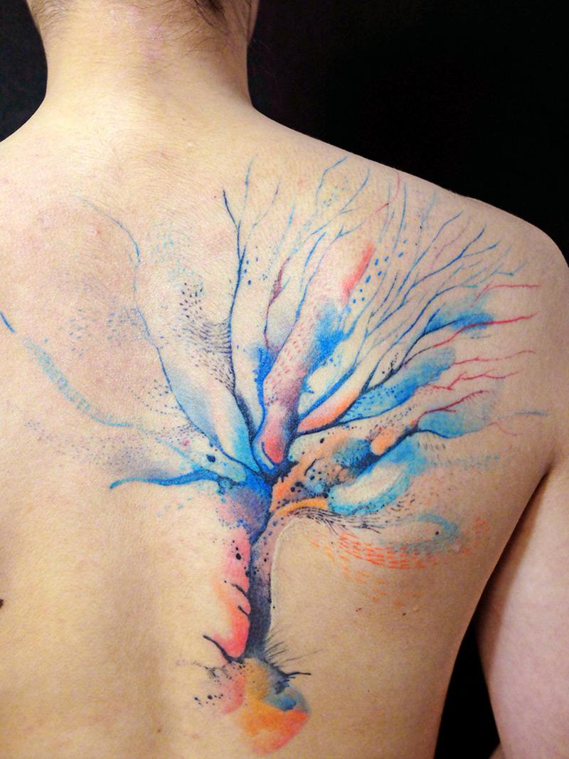watercolor tattoos photo - 8