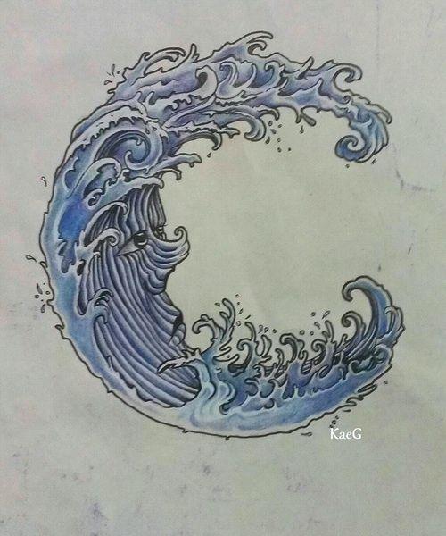 waves tattoos photo - 14