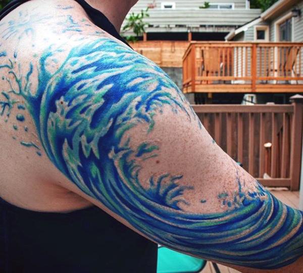 waves tattoos photo - 18
