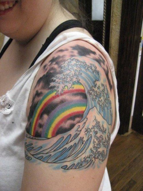 waves tattoos photo - 19