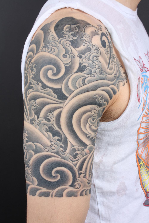 waves tattoos photo - 23
