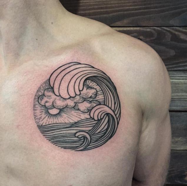 waves tattoos photo - 25