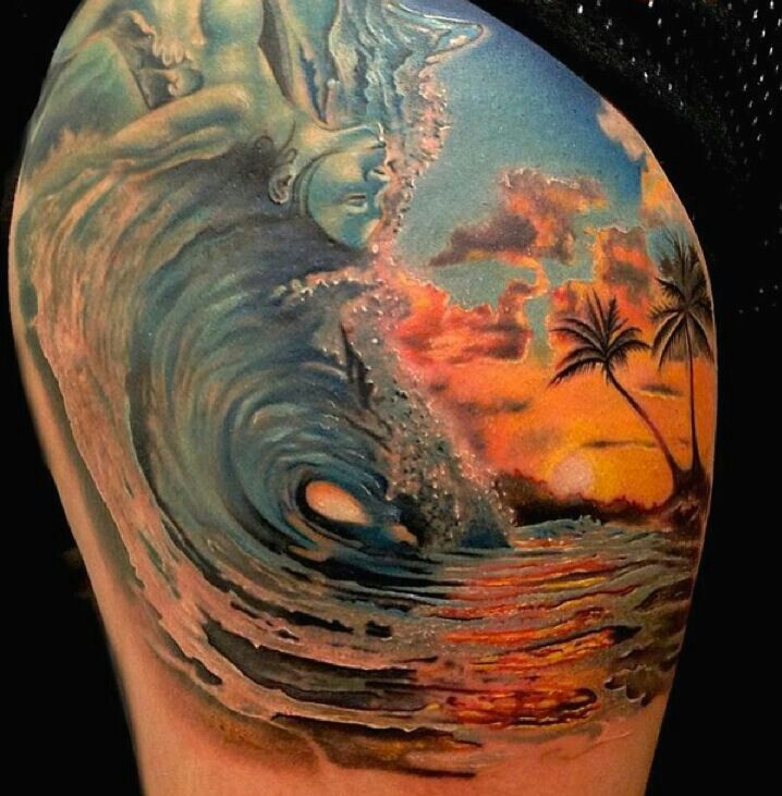 waves tattoos photo - 38