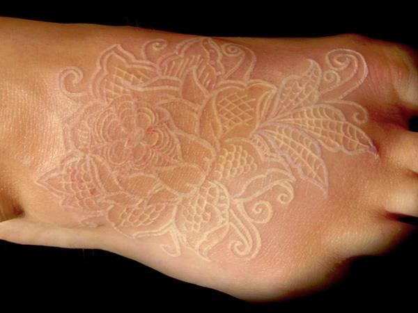 white ink tattoos photo - 16