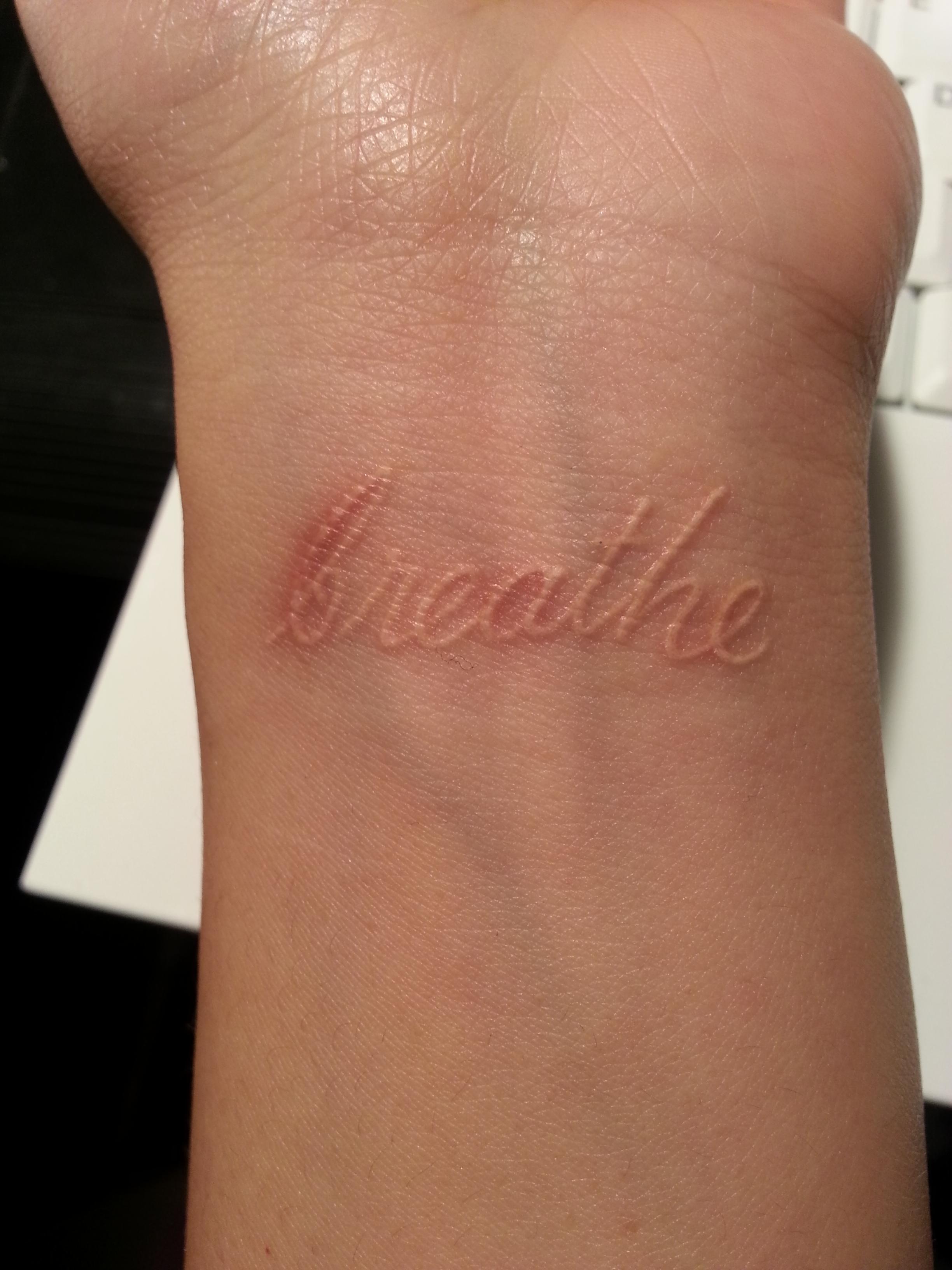 white ink tattoos photo - 25