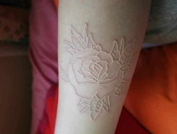 white ink tattoos photo - 32