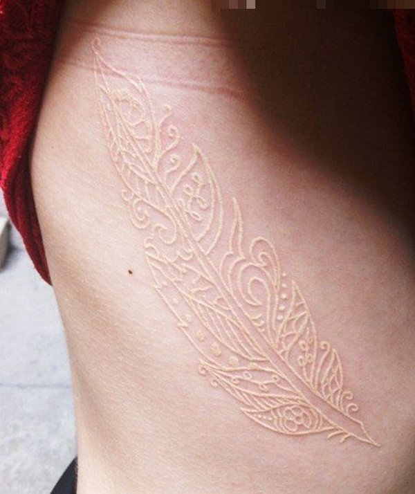 white ink tattoos photo - 34