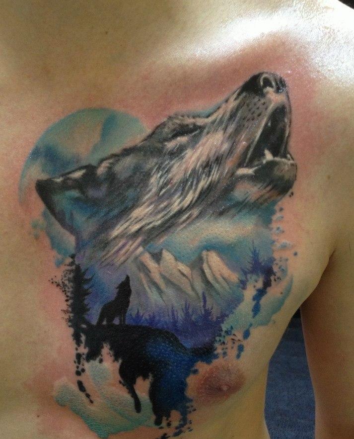 wolf tattoos photo - 12