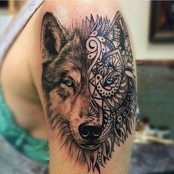 wolf tattoos photo - 25