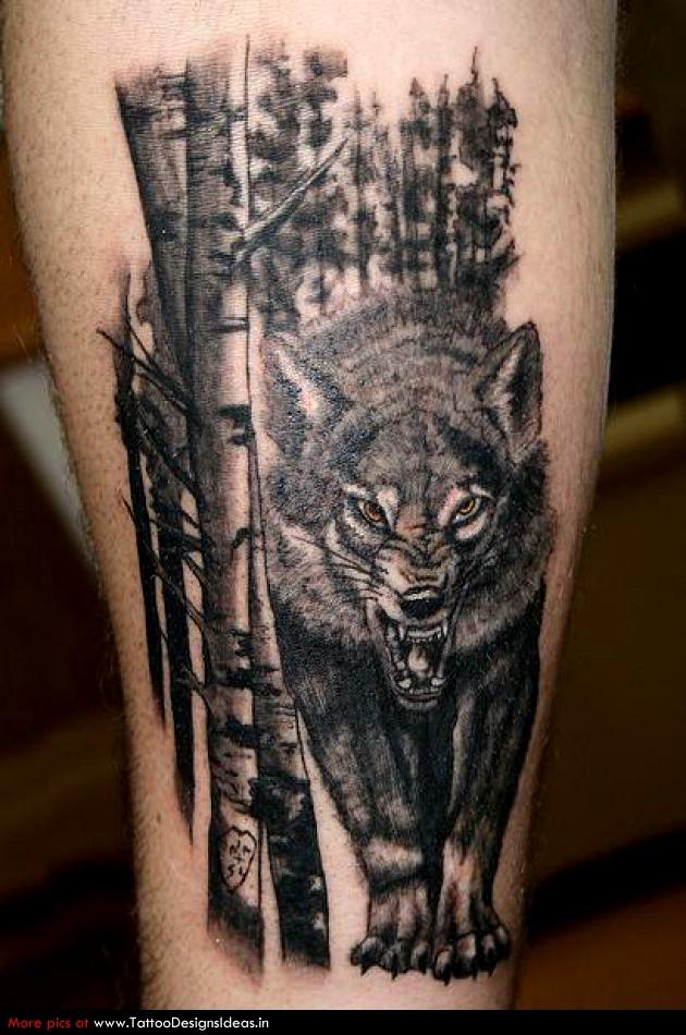 wolf tattoos photo - 31