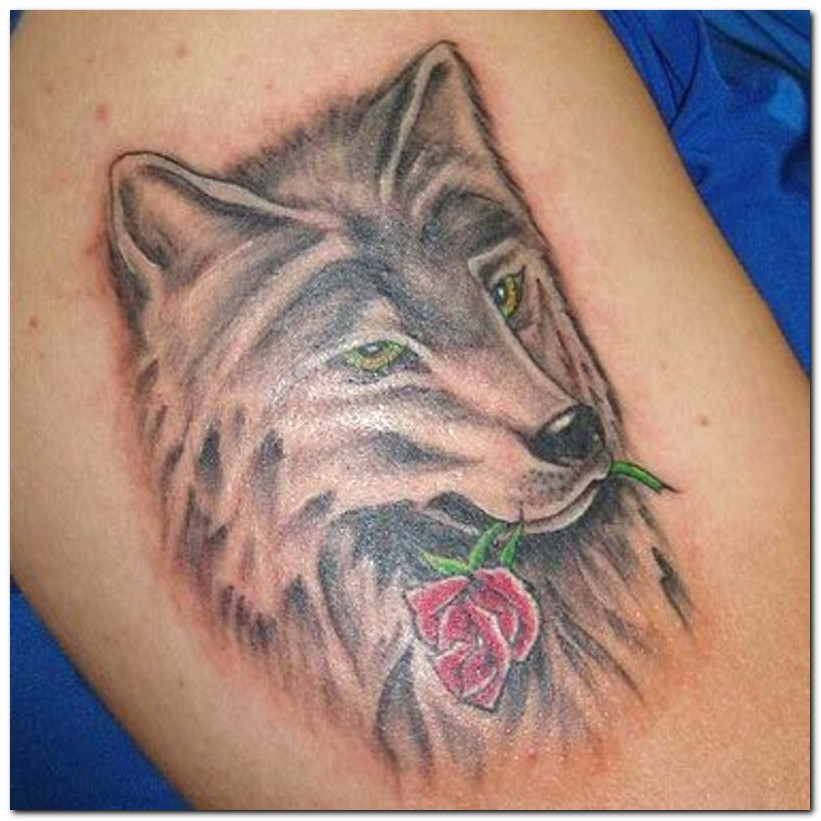 wolf tattoos photo - 5