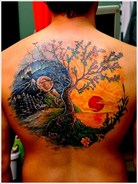 ying yang tattoos photo - 11